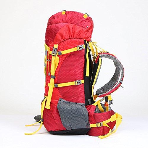YYY-Montañismo al aire libre deportes de bolsa mochila grande - capacidad de hombres y mujeres viaje senderismo mochila 70 L 80 L , green Red