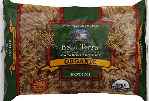 Bella Terra Pasta Whole Wheat Rotini Organic, 12 oz