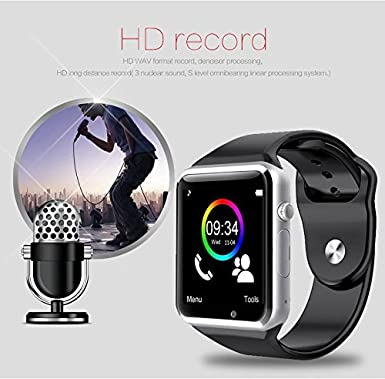 A1 Bluetooth Smart reloj sincronización Notificador apoyo tarjeta ...