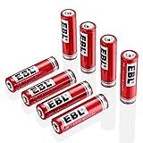 EBL 14500 Li-ion Rechargeable Batteries 3.7V 800mAh for LED Flashlight Torch, 8 Packs