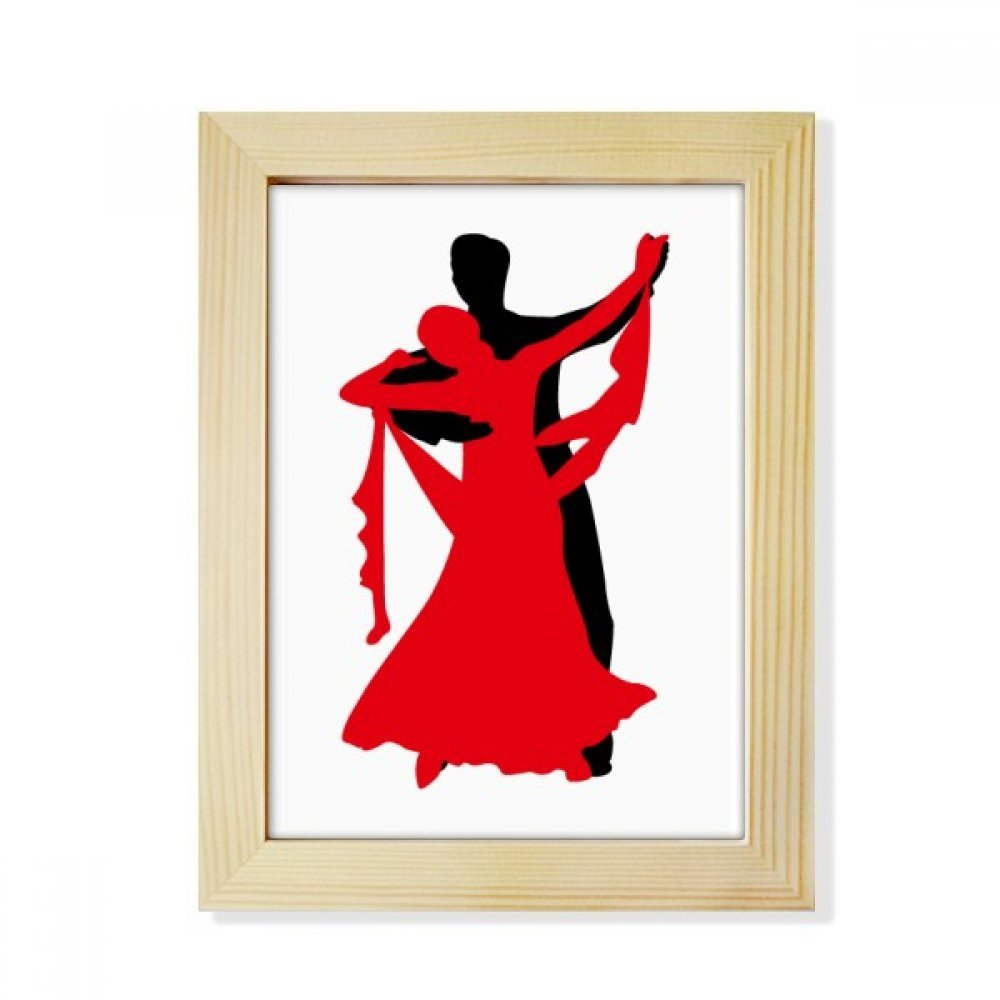 DIYthinker Dancer Duet Dance Social Dancing Desktop Wooden Photo Frame Picture Art Painting 6x8 inch