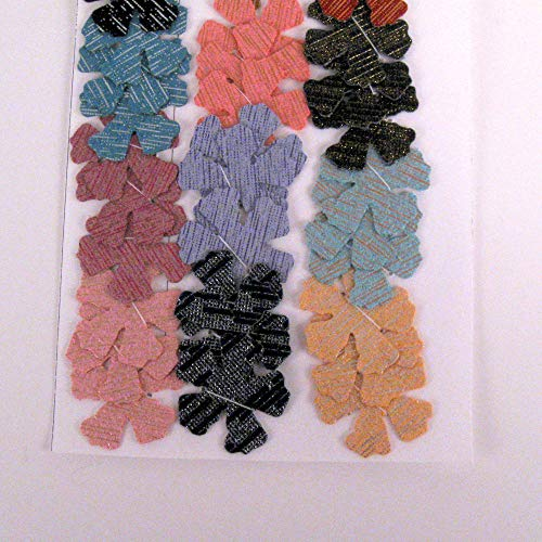 Colorful Sparkle Fabric Die Cut 5 petal Flowers from Suzanne Medrano
