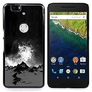 "S-type Alaska Noche Negro Climb Invierno"" - Arte & diseño plástico duro Fundas Cover Cubre Hard Case Cover For Huawei Google Nexus 6P"