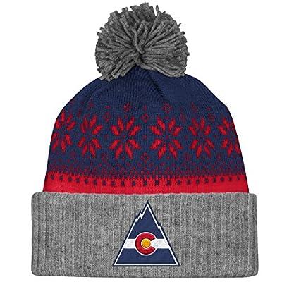 "Colorado Rockies Mitchell & Ness NHL ""Snowflake"" Retro Cuffed Knit Hat"