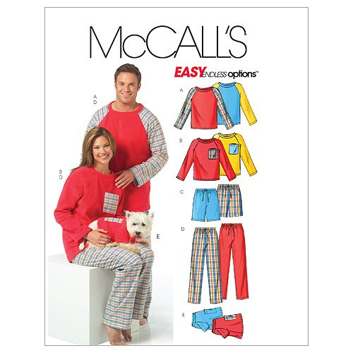 McCall's Patterns M5282 Misses' / Men's / Teen Boys' Tops, Shorts, Pants and Dog's Top, Size Y (XSM-SML-MED) by McCall's Patterns   B000MTUOQY