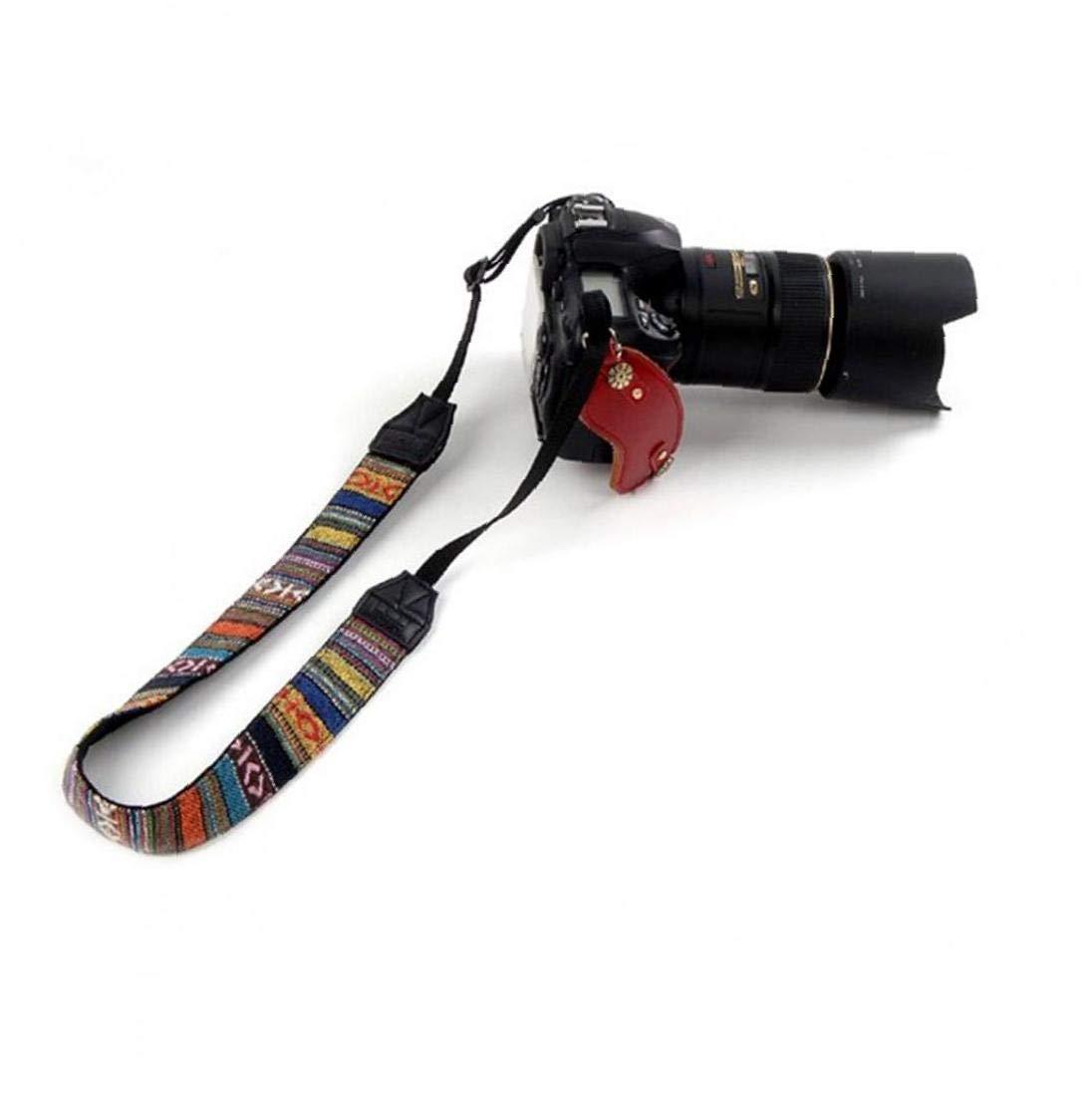 Kameragurt Einstellbare Kamera Schultergurt Tether Umh/ängeband Sicherheits Schnur-Seil f/ür Alle SLR//DSLR Kameras Regenbogen-Streifen