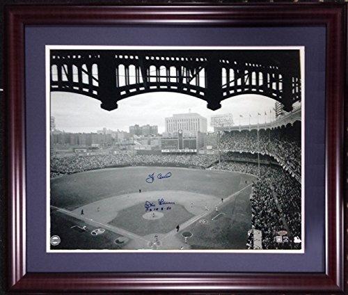 Don Larsen Yogi Berra signed 20x24 Yankee Stadium photo INS pg 10-8-56 framed auto steiner
