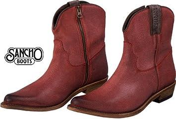 Sancho Boots Botines Boston Rojo Jeans Look Mujer Talla:40 UE: Amazon.es: Deportes y aire libre