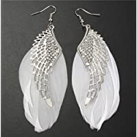Personality Angel Wing Feather Hollow Dangle Earring Chandelier Drop Jewelry