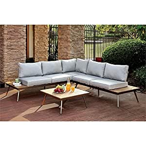 Furniture of America Eryna 2 Piece Patio Sectional Set
