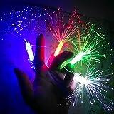 Anthonygift 20pcs LED light-emitting Night Fiber Optic Finger colorful fiber finger party