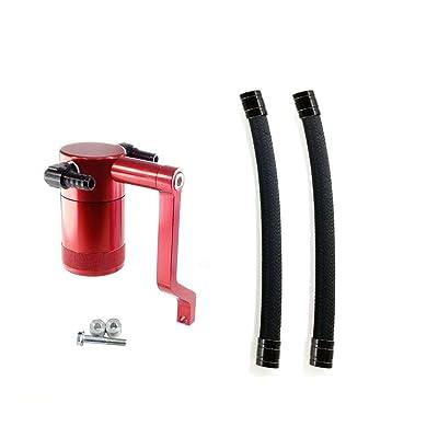 2011-19 6.4 Billet Catch Can New HEMI Technology Z-Bracket Scat Pack Shaker Hood Red: Automotive