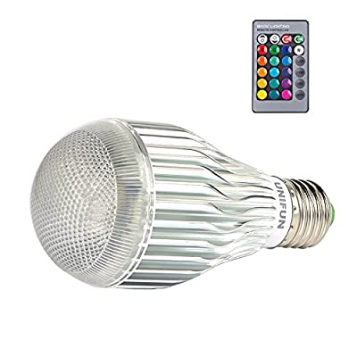 E27 Bulb Color Changing Dimmable RGB LED Light Bulb ,UNIFUN 12W E27 Led RGB Led Bulbs with Remote Controller