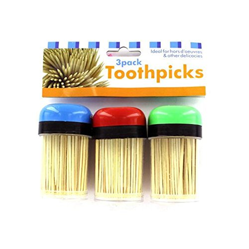 Toothpick Holders & Toothpicks 48 Packs of 3 by FindingKing
