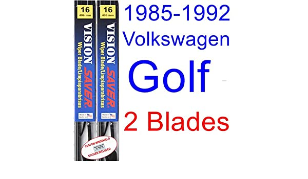 Amazon.com: 1985-1992 Volkswagen Golf Replacement Wiper Blade Set/Kit (Set of 2 Blades) (Saver Automotive Products-Vision Saver) (1986,1987,1988,1989,1990 ...