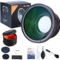 58MM 0.43x K&F Concept Professional HD MC Wide Angle Lens Kit + Multifunctional Cleaning Kit for CANON Rebel Nikon DSLR Camera