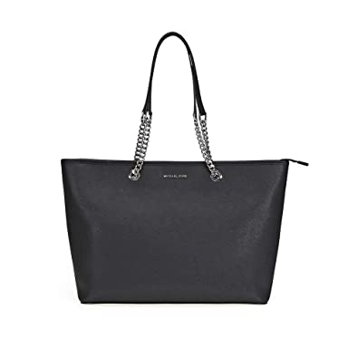 amazon com michael michael kors jet set travel chain tote black shoes rh amazon com
