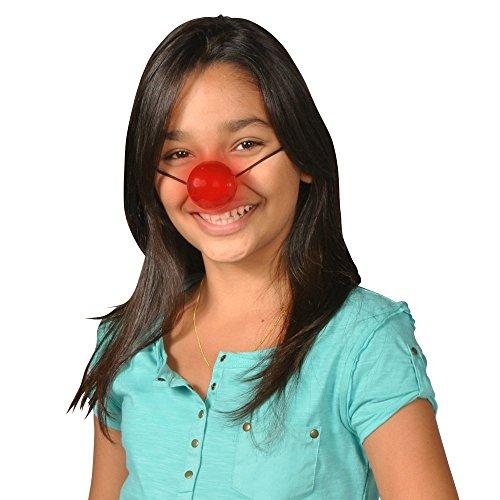 Nicky Bigs Novelties Light Up Rudolph Nose Led Flashing Red Blinking Clown Reindeer Costume -