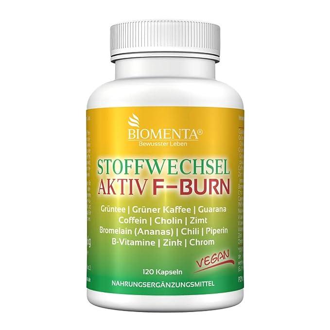 BIOMENTA metabolismo activamente | acción!!! | extracto de te verde + cafe verde + guarana + cafeina + colina + canela + piña (bromelina) + chile + ...