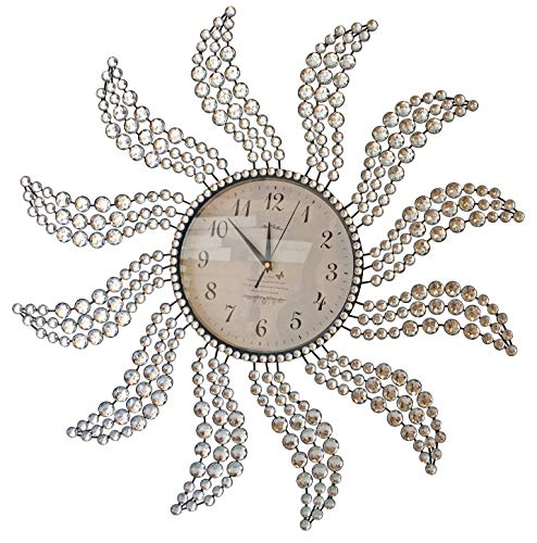 Beautiful Large Wall Clocks Handmade Stylish Wall Clock with Crystals 2959 Sunburst 2 Windmill Clock