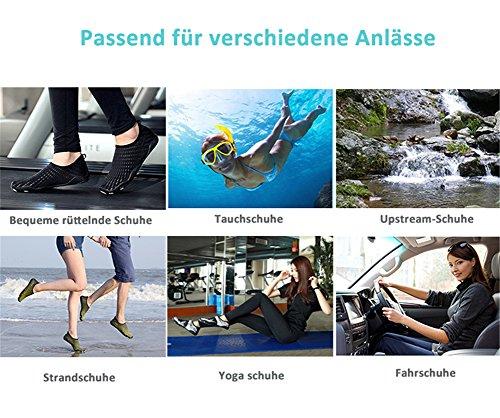 Séchage De 3 bleu Pieds Aquatiques Chaussons Chaussures Style Ailu À Rapide Chaussettes Plage Surf Femme Nus Homme Sport vXRaAq