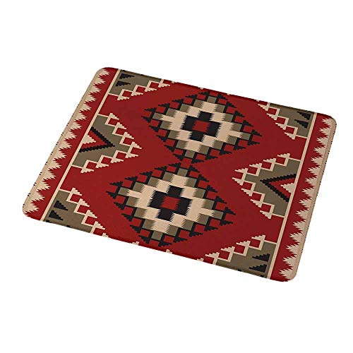Custom Mouse Pad Gaming Mat Afghan,Middle Eastern Folklore Pixel Art Triangles Afghan Style Geometric Illustration,Custom Design Gaming Mouse Pad 9.8