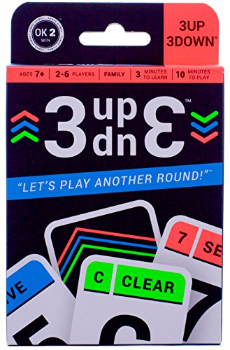 3UP 3DOWN Card Game (Kids For 2 Player Games)