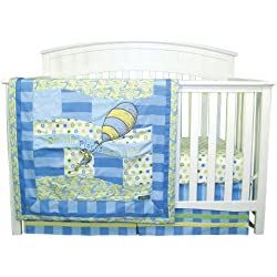 Trend Lab Dr. Seuss Oh, The Places You'll Go 3 Piece Crib Bedding Set, Blue/ Green
