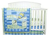 Trend Lab Dr. Seuss Oh, The Places You'll Go 3 Piece Crib Bedding Set, Blue