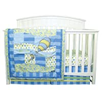 Trend Lab Dr. Seuss Oh, The Places You'll Go 3 Piece Crib Bedding Set, Blue