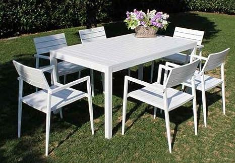 Tavolo Nizza 160 X 90 Bianco In Alluminio Per Arredo Giardino E Esterno Amazon It Giardino E Giardinaggio