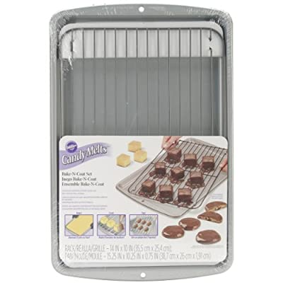 Wilton 2105-0170 Candy Cooling Grid with Cookie Sheet
