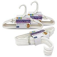 Delta White Nursery Hangers 30 Pack para bebés, niños pequeños, niños, niños (3 paquetes de 10)