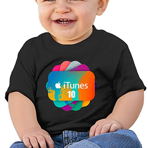tayc-apple-itunes-cool-unisex-baby-short-sleeve-shirts-black-24-months