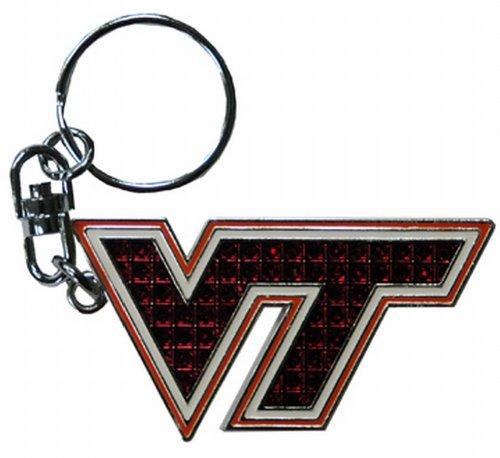 NCAA Virginia Tech Hokies Keychain Shanghi Dmnd (Virginia Tech Keychain)