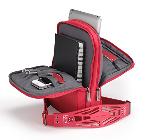 i-stay Launch 12 Messenger case Red - Notebook Cases (Messenger case, 30.5 cm (12), Shoulder strap, 500 g, Red)