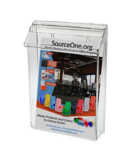 Source One Premium Bi-fold 6 Inch Outdoor Brochure Holder Avon Mary Kay Booklet ETC. (Outdoor Brochure Display)