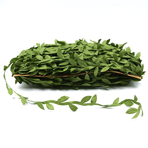 Loosco 43.7 Yard (40m) Artificial Leaf Fake Vine Garlands Simulation Foliage Rattan Wreath Green Leaves Decorative Home Garden Wedding Party Wreaths Decor (Leaves Wreath Of)