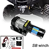 Christmas day VIOGI4000lb /1814kg Capacity 12V Electric Recovery Waterproof Winch With Wired Switch & Wireless Remote for UTV ATV Boat Trailer Ranger