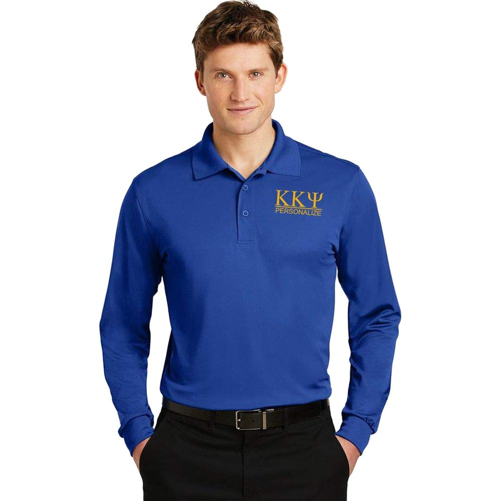 Kappa Kappa Psi World Famous Long Sleeve Dry Fit Polo
