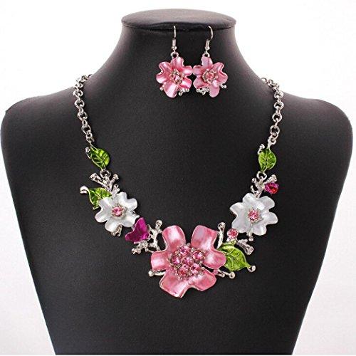 Susenstone Temperament flowers Diamond Necklace