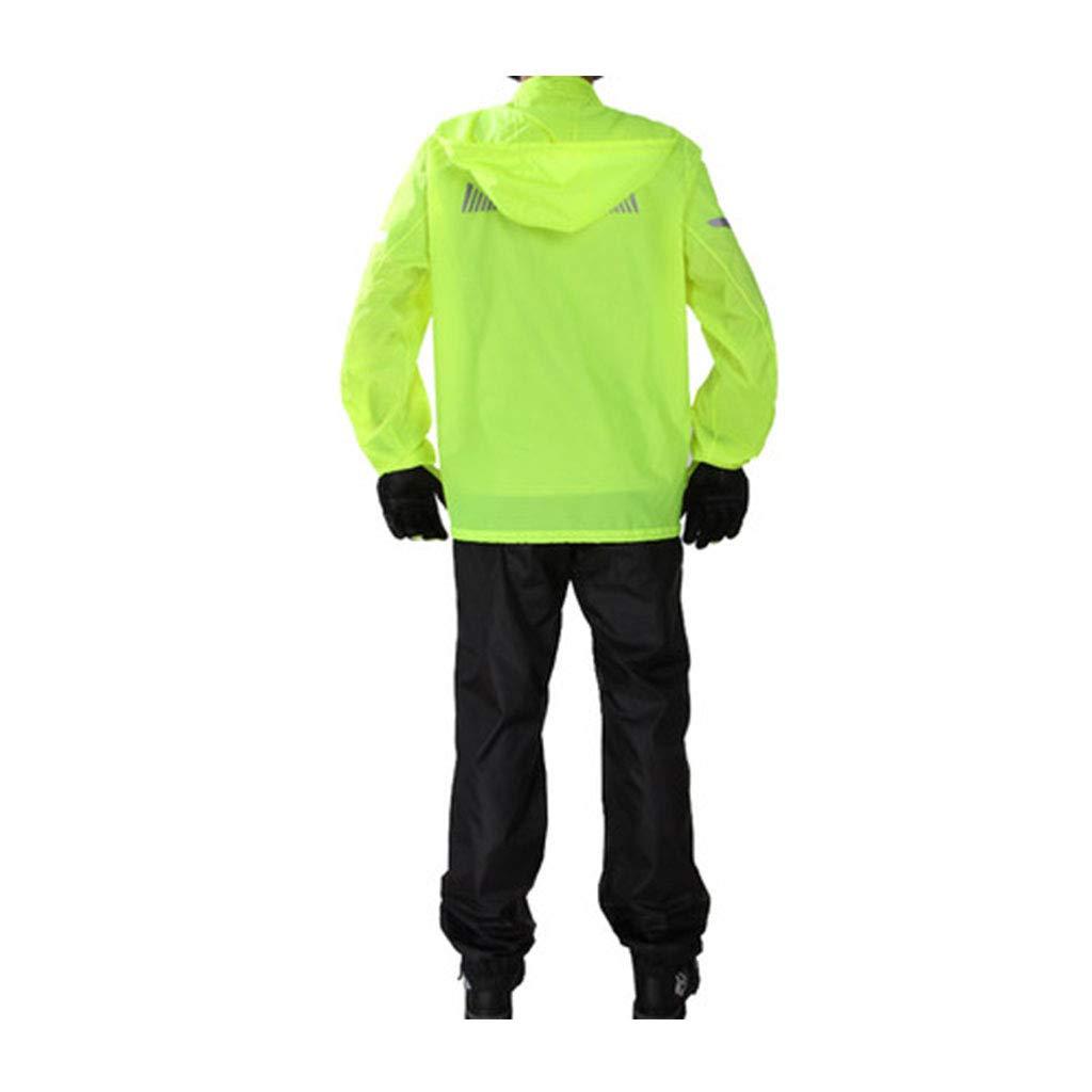 Fluorescent XXL WSWJJXB Pantalon de Pluie imperméable Costume Adulte imperméable Fendu Cyclisme imperméable Cyclisme Hommes et Femmes en Plein air