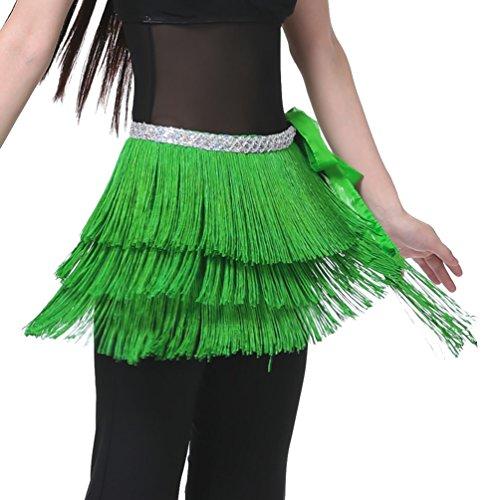 Foulard du Tribal gland foulard Dance Fonc ventre de Belly danse main Dance Hip Vert YouPue Orientale Danse Ceinture Belly vqHwwRp8
