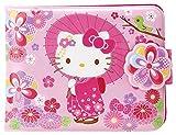 Sanrio Hello Kitty Vinyl Wallet: Floral Kimono