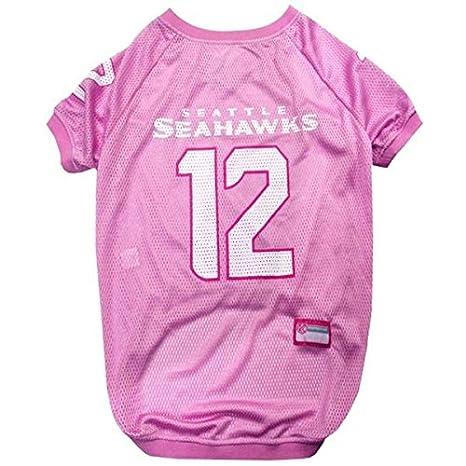 wholesale dealer 8bc33 b6d6d Amazon.com : Seattle Seahawks 12th Man Pink Pet Jersey ...