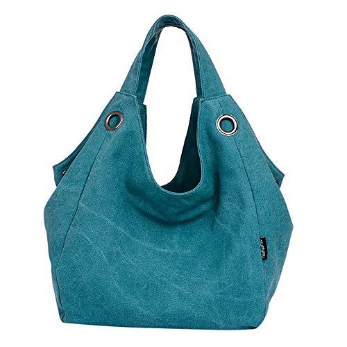 (2018 New Women's Canvas Shoulder Bag Military Messenger Satchel Vintage Handbag)