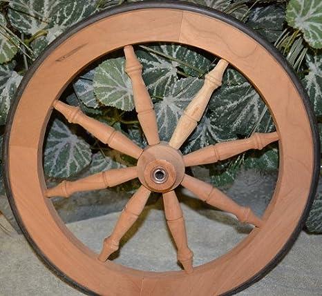 f22666ecbfef Tea Cart Wheel - 14.5 Inch Cherry Tea Cart Wheel with Rubber Tire