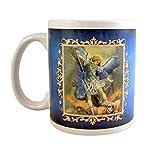Saint Michael the Archangel Ceramic Coffee Mug with Prayer, 10 Ounce