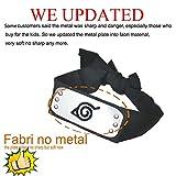 IDOXE Leaf Village Logo Headband, Halloween Costume Ninja Head Band Kakashi Cosplay