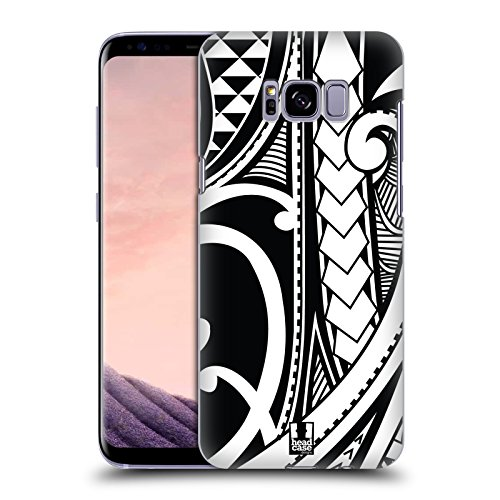 Head Case Designs Ornate Swirl Samoan Tattoo Hard Back Case Compatible for Samsung Galaxy S8+ / S8 Plus (Best Samoan Tattoo Designs)